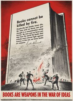 Books are weapons in the war of ideas (by Boston Public Library)