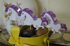 Unicorn cupcake toppers.