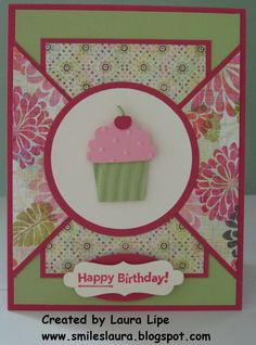 card idea, quilt, happy birthdays, pattern, color, circl, cupcake birthday, paper, birthday cupcakes