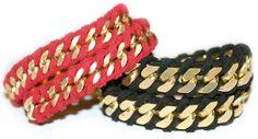 pulsera con cuerda y cadena envuelta