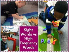 Tips for Teaching Sight Words and High-Frequency Words- and the difference between them! Great post.