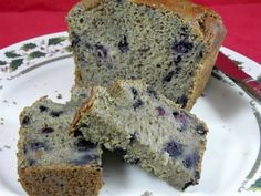 Sugarless Blueberry bread