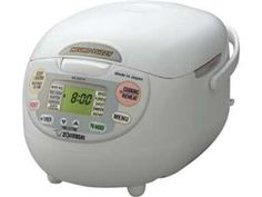 #holidaycooking White 5.5-c. Neuro Fuzzy Rice Cooker by Zojirushi at Cooking.com