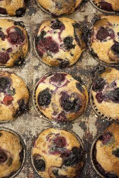 Vegan Vanilla Mixed Berry Muffins   39 Sweet Ways To Eat Berries For Breakfast