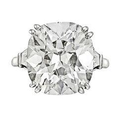 BETTERIDGE 10.18 Carat Round Brilliant Diamond Engagement Ring (via @1stdibs)