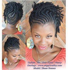 """Pretty flat twist updo by The """"Hair Artist"""" Nancy - www.blackhairinfo..."""