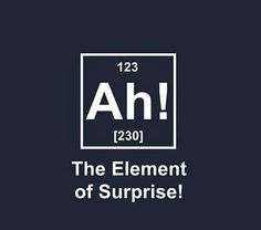 I would love to put this up on the periodic table in my classroom just to see if the kids notice.