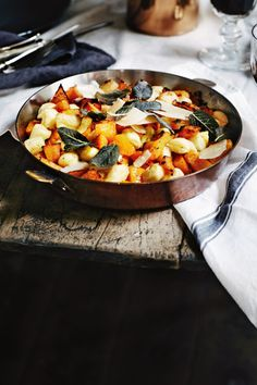 // Parisienne gnocchi with roasted pumpkin and sage butter