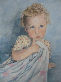Watercolor portrait I painted....