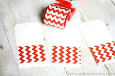 Great DIY Gift Tag Ideas from Courtney @A Thoughtful Place (these using tape!)