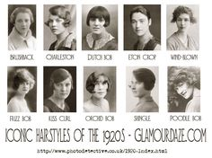 Iconic Hairstyles of the 1920's - Photo Wall