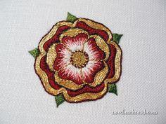 Goldwork & Silk Tudor-Style Rose