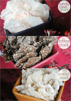 A trio of Christmas Crack recipes! Use CandiQuik to make it easy :)