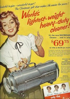 One of the first vaccuum cleaners