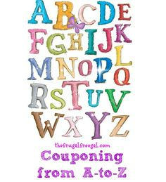 Couponing from A-to-Z