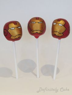 Iron Man Cake Pops man cake, iron man, cake pops