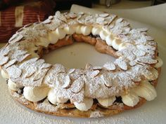Chocolate Paris-Brest. Jacques Pepin recipe of course :)