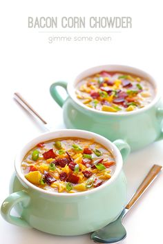 Bacon Corn Chowder - Gimme Some Oven