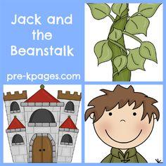 Jack and the Beanstalk Activities for Preschool and Kindergarten via www.pre-kpages.com
