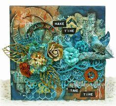 Make Time...a Mini Mixed Media Canvas... (via Bloglovin.com )