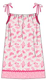Free pattern to make a pretty pillowcase dress! You don't need to cut up an existing pillowcase to do it!  Any little girl will love the freedom and comfort of this little dress and it offers lots of opportunity for creativity!  Click on dress for FREE PATTERN.