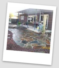 How to module for building a flagstone Patio