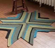 #tunisian #crochet rug, pattern in Dora Ohrensteins New Tunisian Crochet Book
