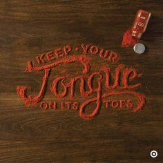 Really interesting food-related typographic work by the designer...