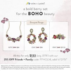This bold berry set