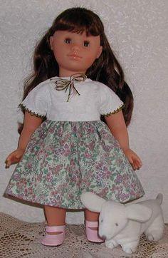 "Summer Cap Sleeve, Short Sleeve Dress Pattern  to Fit American Girl-Type 18"" Dolls"