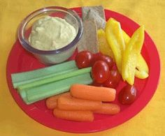 Super Duper Easy Hummus - makes a quick snack for busy families.  Serve with a variety of fresh veggies or whole grain pita chips.
