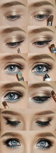 Brown + Blues Eyeshadow