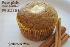 Pumpkin Cream Cheese Filled Muffins
