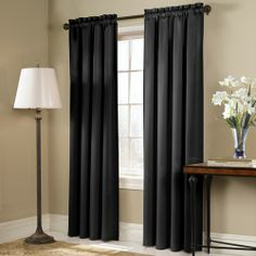 """Blackstone tailored curtains block out light and add a stylish touch to your decor, along with the energy-saving. Solid color polyester window treatment has 3"""" rod pockets. #Contemporary #Modern #Curtains"""