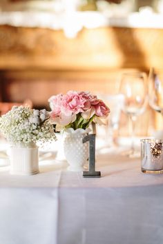 metal table number // photo by Volatile Photography // http://ruffledblog.com/vintage-romance-sonoma-wedding
