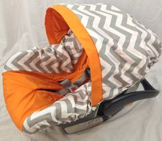 Infant Car Seat Cover. Turn a girl car seat into one fit for a boy!!