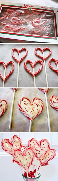 ItsSelected: Christmas Heart Lollipops