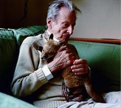 Lucien Freud with his fox