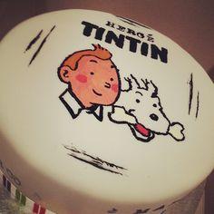 Hand Painted Tintin cake.