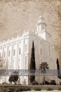 St. George Utah LDS Temple - Portrait Sepia- Instant DIGITAL DOWNLOAD - Large Temple Print     #LDS #LDSTemples #LDSMemes