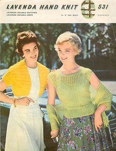 knit womenswear, vintag knit, knit pattern