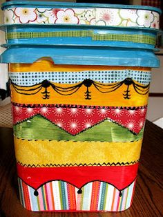 maybe for scrapfest next year - decorate an empty kitty litter bucket and top with a comfy cushion to sit on when in the long lines.  Could store class supplies and make-n-takes inside!