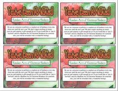 Random Acts of Christmas Kindness Cards & Ideas