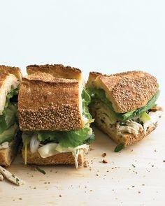 Chicken and Marinated-Zucchini Sandwich - Martha Stewart Recipes