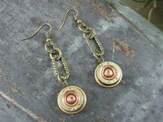 Key of A Shotgun Casing Jewelry - Bullet Jewelry - Federal Brand 410 Shotgun Shell Dangle Earrings