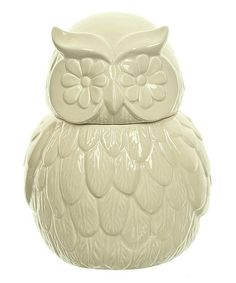 Look what I found on #zulily! Owl Cookie Jar #zulilyfinds