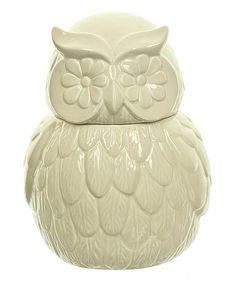 Look what I found on #zulily! Owl Cookie Jar #zulilyfinds