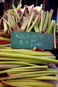 rhubarb for the farmers market