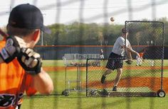 Homerun derby. Head down to a local baseball field with a bat and bucket of balls (tennis balls or real baseballs)