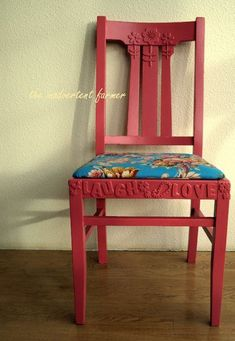 Decorate a chair with foam stickers and then paint - awesome!
